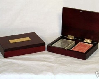 Playing Cards in Keepsake Box - Engraved Personalized