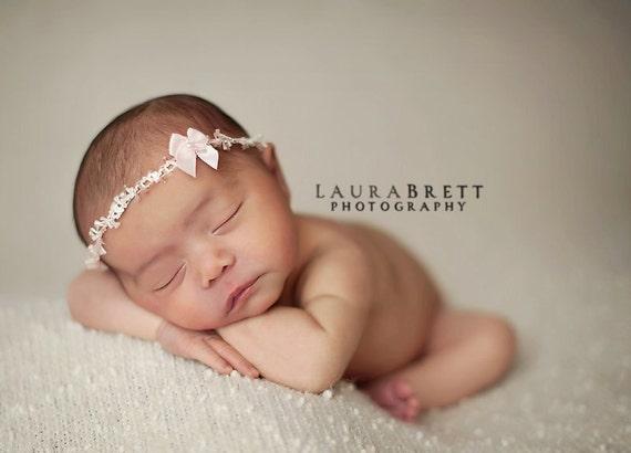 Tiny Pinkie Headband - newborn photo prop