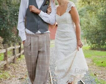 Sample Sale!! Vintage Inspired Bridal Wedding Dress By Sheena Solis