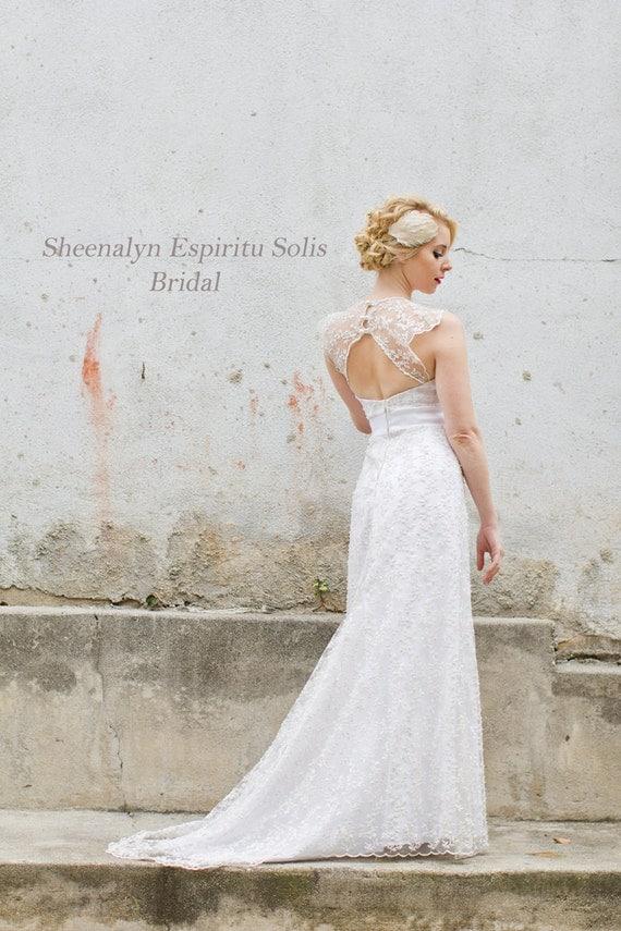 Vintage/Literature Inspired Bridal Wedding Dress by Sheena Espiritu Solis