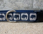 Buffalo or Bison Dog Collar in Side Release Buckle Style, In XL Only, Last One!