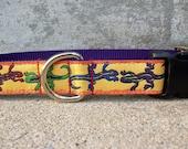 Dog Collar, Gecko Lizard, Side Release Buckle Style In, M, L, XL
