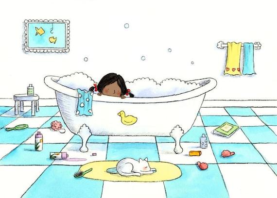 The Bubble Bath  - Fine Art Print