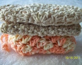 Crocheted Soap Saver and Face Cloth...3 Piece Set