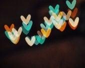 Valentine Home Decoration - Valentines Gift - 8x8 Fine Art Photograph - Dancing Hearts