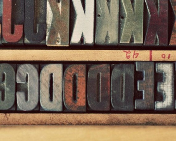 Ink Stained - Fine Art Photograph - Letterpress Love