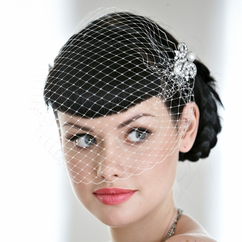 Wedding/bridal Accessories Hair Birdcage Veil 9 Inch Birdcage