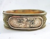 Antique Victorian Peacock Bracelet Bangle Birds C1875 - For Small Wrist