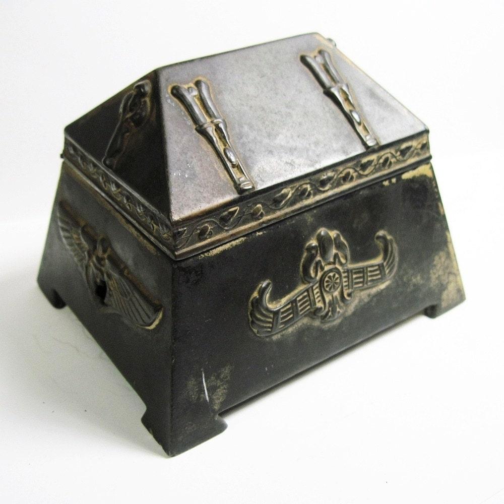 antique nouveau metal jewelry box jewelry casket