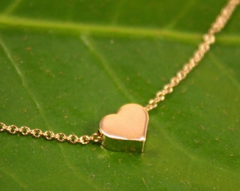 HEART Gold Necklace, Dainty Necklace, Delicate Gold Necklace, Fashion Jewelry, Tiny Gold Necklace, Summer Must have, Fashion trend, Summer