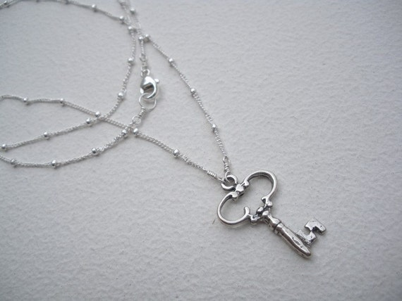 Solitary Key Necklace
