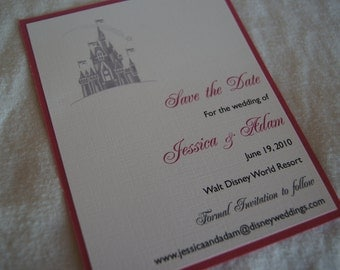 Fairytale Castle save the date SAMPLE