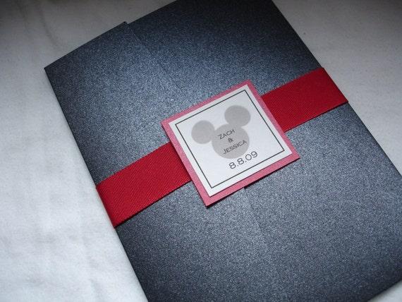 Disney Mickey Pocketfold Wedding Invitations – Disney Invitations Wedding