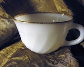 Milkglass - Cup with Gold Edge - Fire King