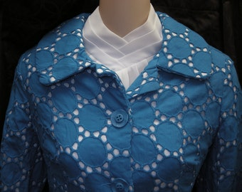 Blue - Retro Eyelet Jacket
