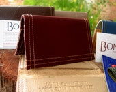 Recycled Wine Leather Card Holder