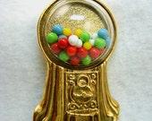 Vintage Gum Ball Machine Brooch
