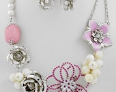 Giving away FREE earrings to match this Summer Special in PINK necklace