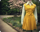Mustard Yellow 60s Wool Schoolgirl Uniform