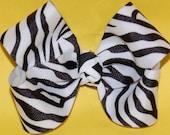 Zebra Print Boutique Bow
