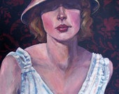 Painting Original Art A Woman of Design Catherine Darling Hostetter