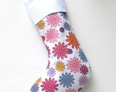 Modern Christmas Stocking - Darling Daisy - ready to ship by speedpost, delivery in 4-5 days