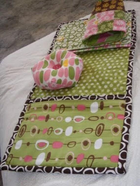 Arm Chair Sewing Caddy PDF Pattern with Biscornu Pincushion