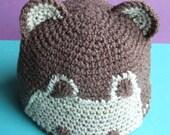 Little bear organic baby hat (3-6 months)