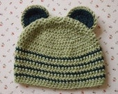 Little bear organic baby hat