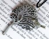 Silver Bird tree Necklace