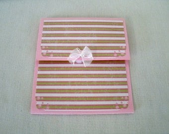 PIF ITEM//One Pretty in Pink With a Bow, Gift Card Holder #5117