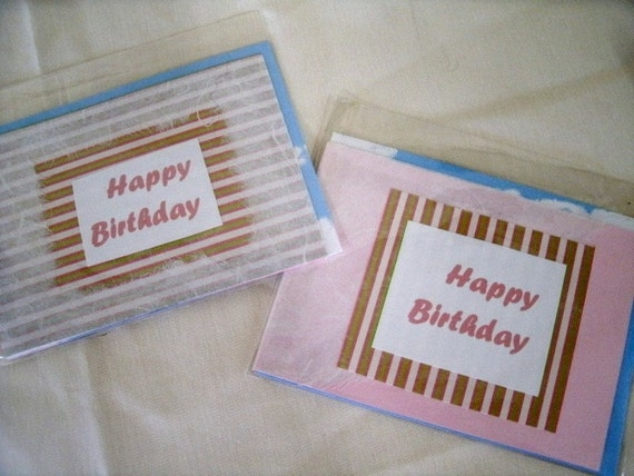 "CLEARANCE Set of 2 ""Happy Birthday"" Cards (571x2) Benefits National Ovarian cancer Coalition"