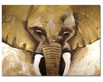 Elephant - 10 x 8, Modern Contemporary Abstract Art FINE ART PRINT