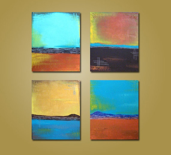 Zen - HUGE 64 x 20, Heavy Textured Acrylic Art PAINTING, gallery wrapped, ORIGINAL, Contemporary Abstract Art