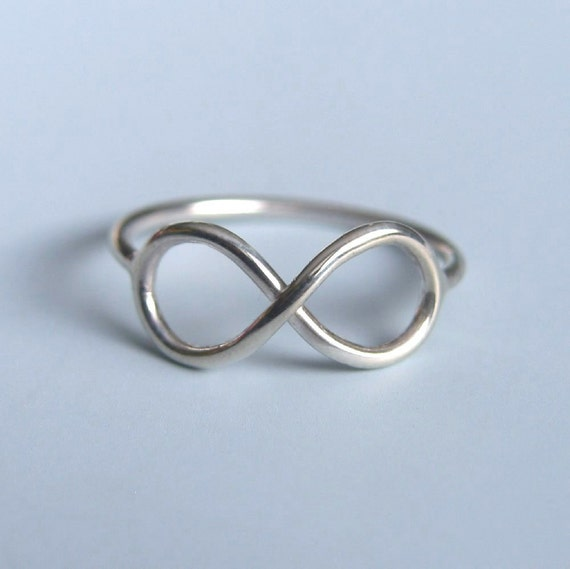 Infinity Rings Set of Two Friendship Rings Sterling Silver