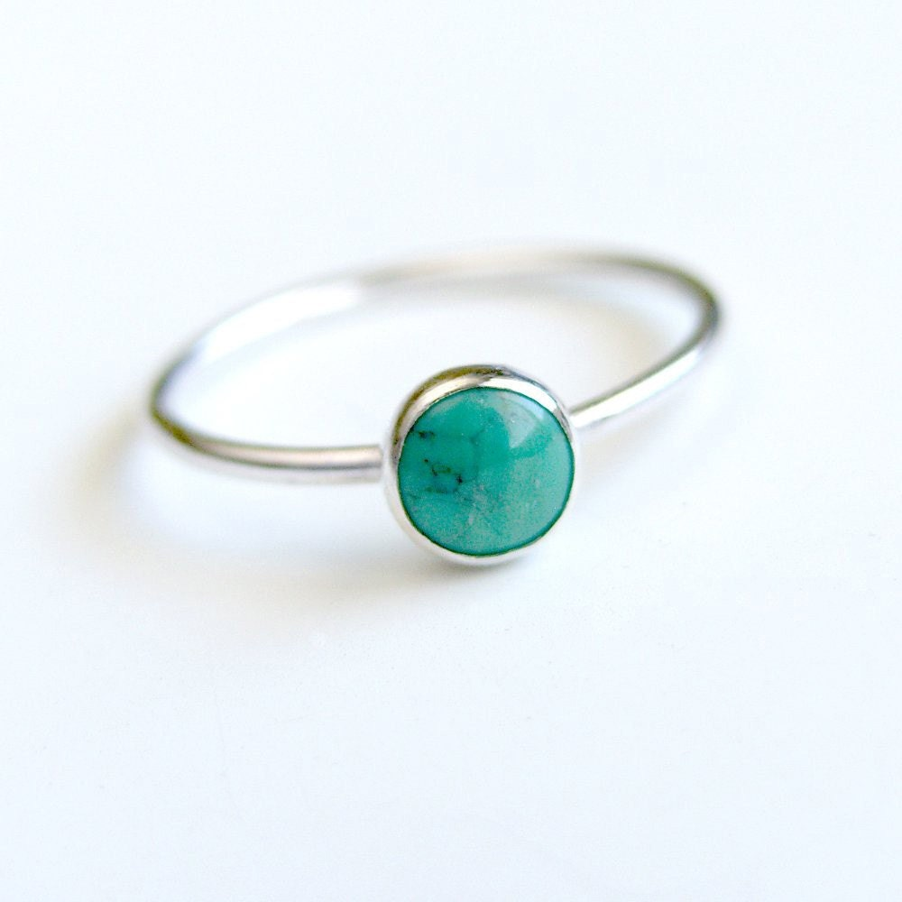 turquoise ring sterling silver bezel set