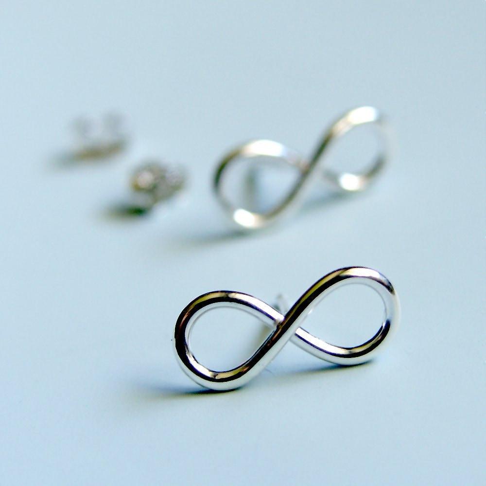 infinity symbol earrings sterling silver infinity sign stud