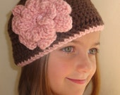 Chocolate Brown Crochet Hat       Size 4-10 Years
