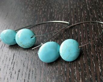Simply modern turquoise earrings