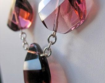 Grape purple glass necklace
