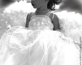 Angel Costume Flower Girl Dress Wings Custom Handmade Photo Prop