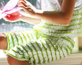 Spring Easter Boutique Lime Ruffle Top and Shorts 2 piece Set