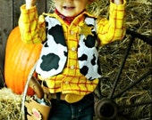 DEADLINE is September 1st  WOODY Custom Shirt and Vest Disney Birthday Photo Boutique Costume
