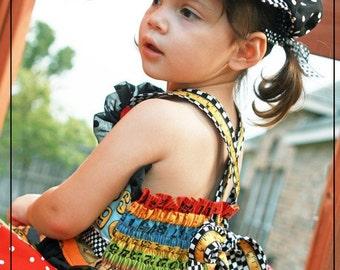 Custom School Days Handmade Twirl Skirt Set 18 month - Size 6
