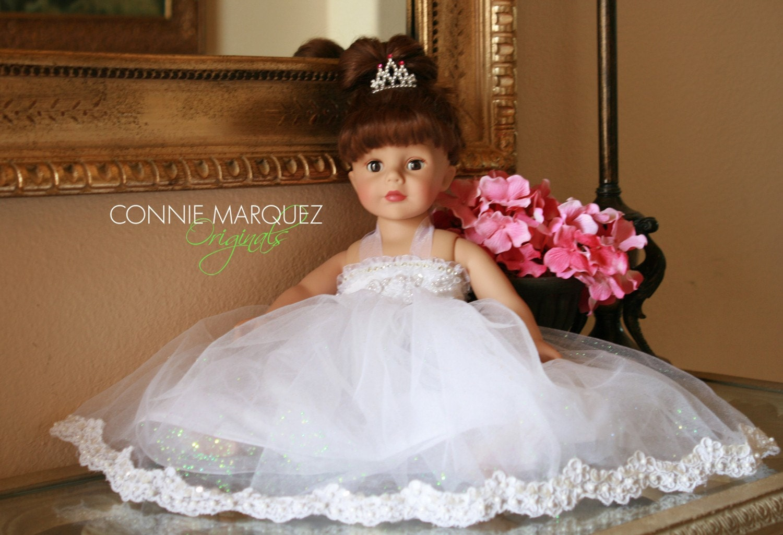 AMERICAN Girl Princess Wedding 18 Inch Doll Dress Fits