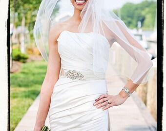 Rhinestone and Pearls bridal sash