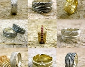 Order Your Custom Designed Feather Wrap Wedding Ring Here