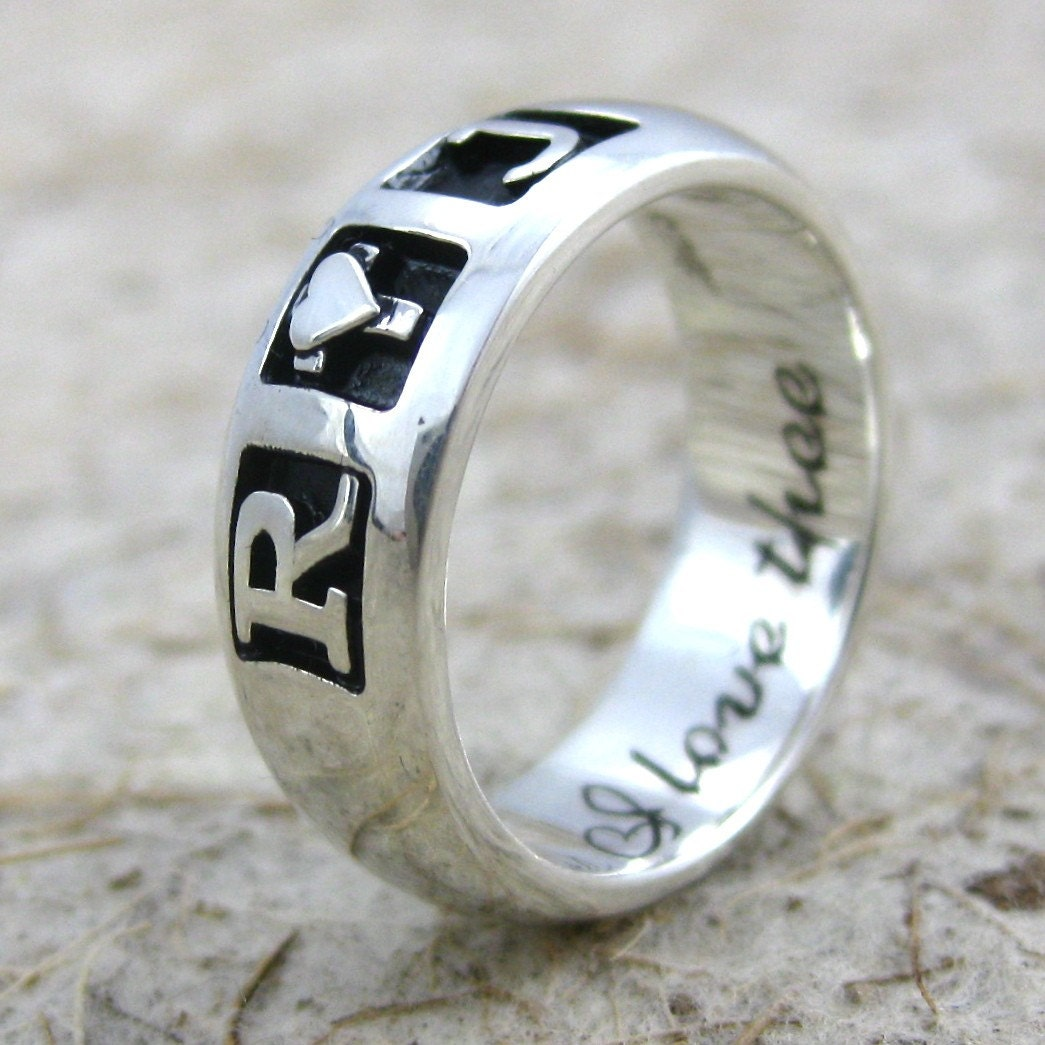 Romeo And Juliet Ring Sterling Silver Promise Band