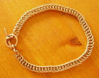 Bronze Half Persian 4 in 1 Chainmaille Bracelet
