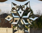 Bevelled Glass Snowflake - small